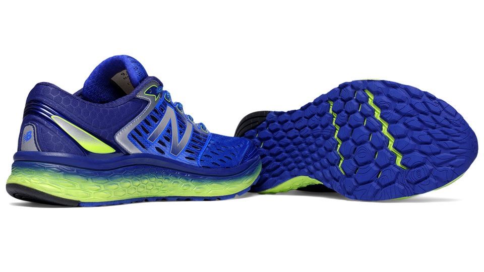 New Balance Fresh Foam 1080 Men Blue Bell with Lime Green