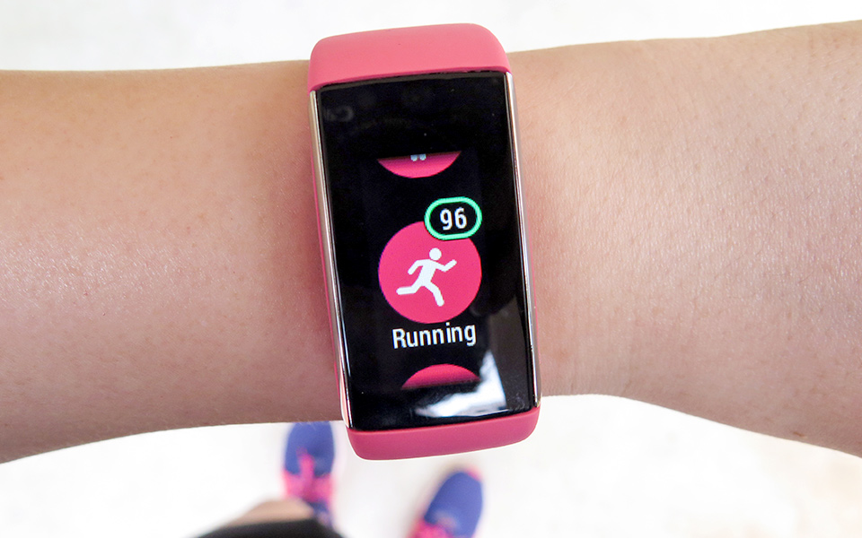 Be Pretty and Powerful in Pink Wearing a Polar A360 Fitness Tracker