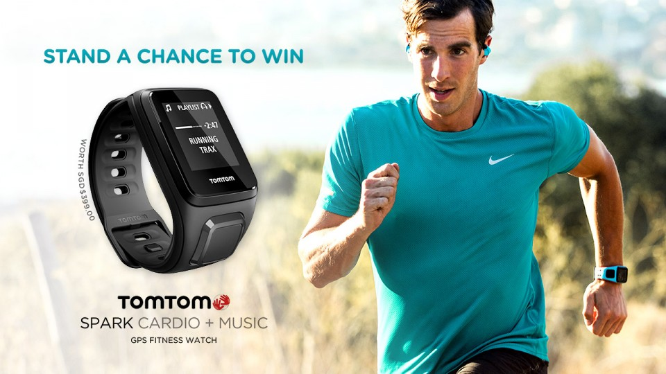 Stand a Chance to Win 1 More TomTom Spark Cardio+Music GPS Fitness Watch!