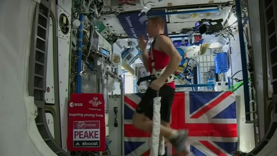 Running the London Marathon in Space