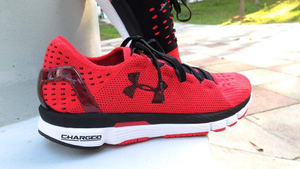 Dude Gets Rocket Red UA SpeedForm® Slingshot Running Shoes. Girlfriend Still in Shock!