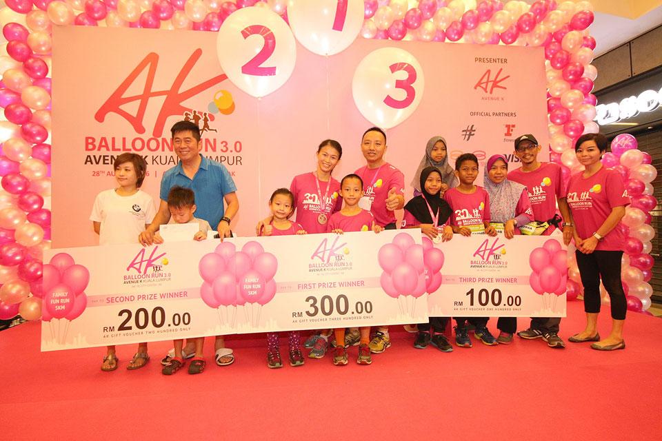 AK Balloon Run 3.0: Fuchsia balloons dominating Kuala Lumpur city