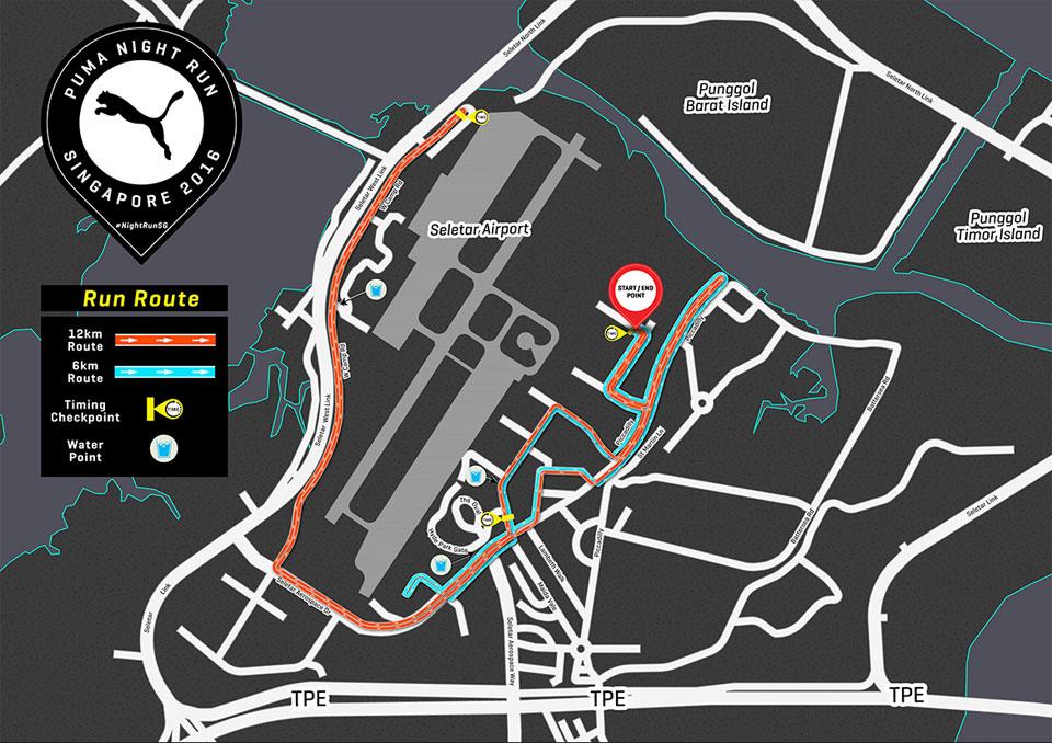 Road Closure For Puma Night Run 2016 Singapore