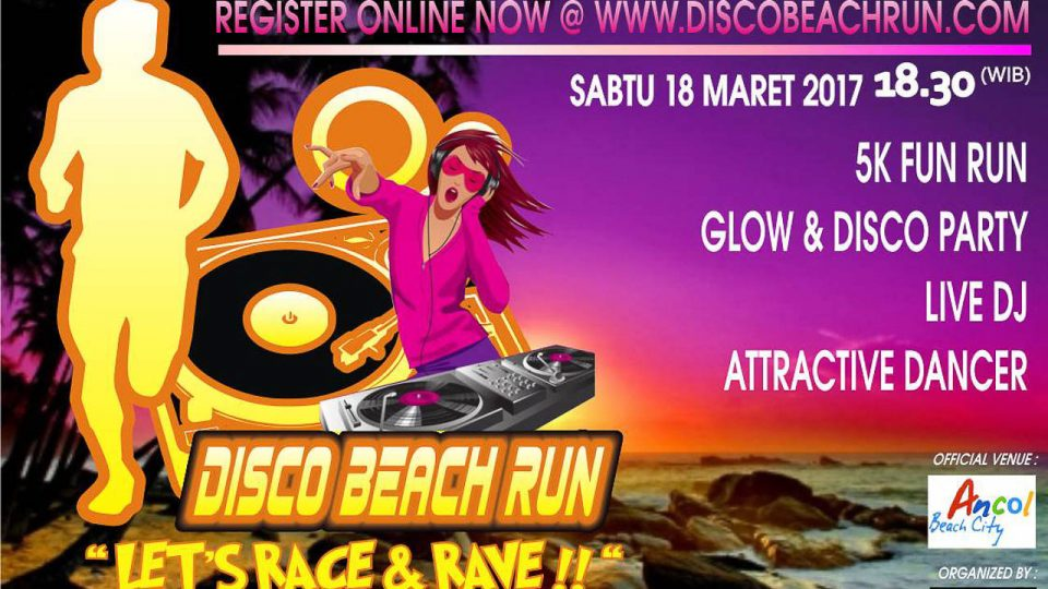 Disco Beach Run Jakarta 2017