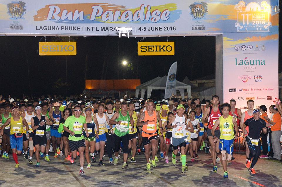 12th Laguna Phuket Marathon Will Be Held from Sunset to Sunrise Over Two Days
