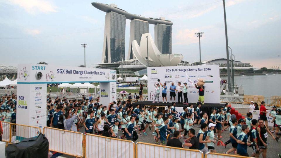 SGX Bull Charge Charity Run 2017