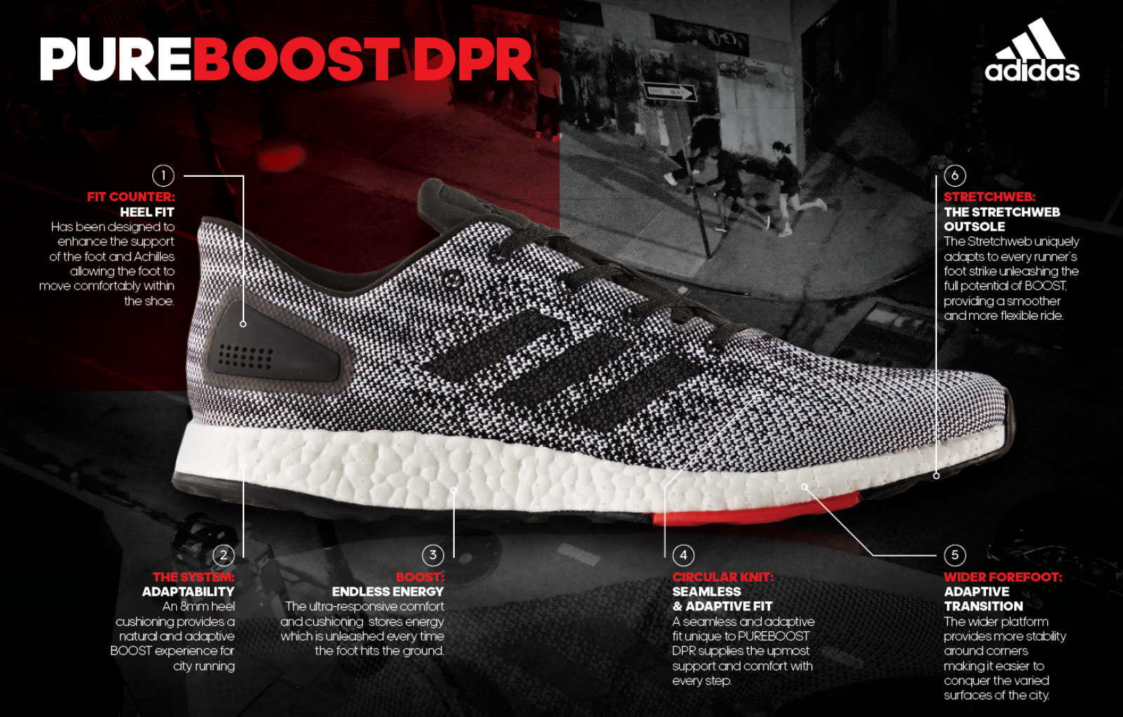 No Urban Environment Unconquerable with adidas PureBOOST DPR db8693a40