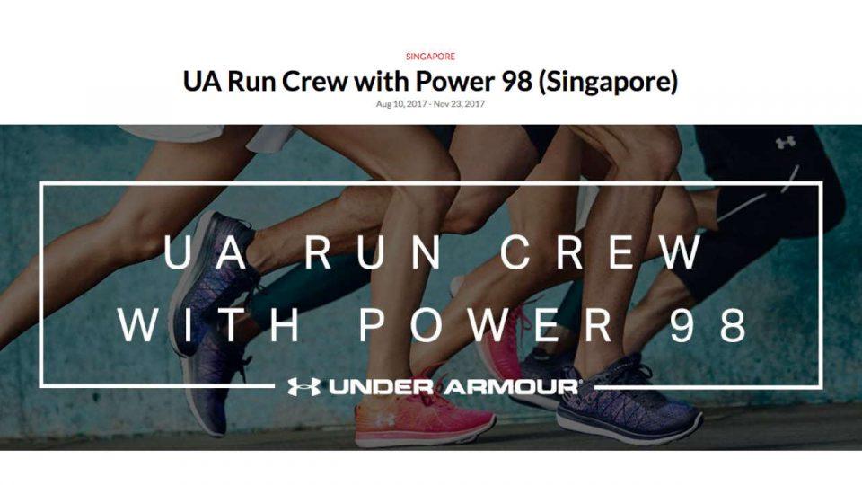 UA Run Crew with Power 98 (Singapore)