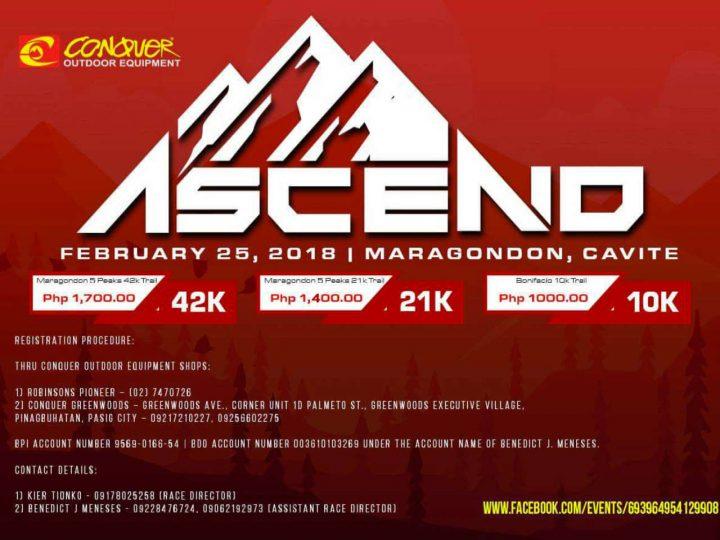 Conquer Ascend: Maragondon 5 Peaks 2018