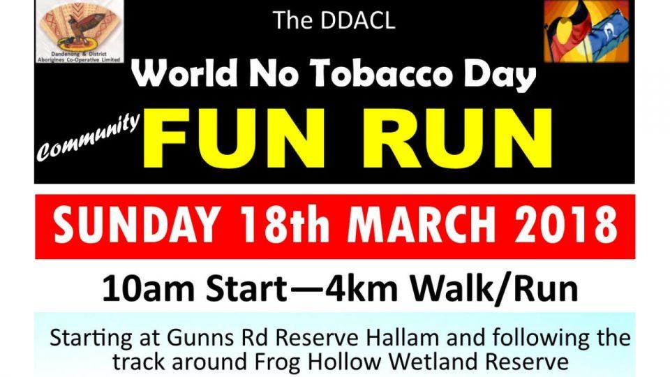 World No Tobacco Day Fun Run 2018