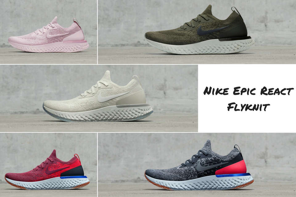 14050f075d06 First 3D Printed Textile and New Colourways  Nike Flyprint   Nike Epic React  Flyknit