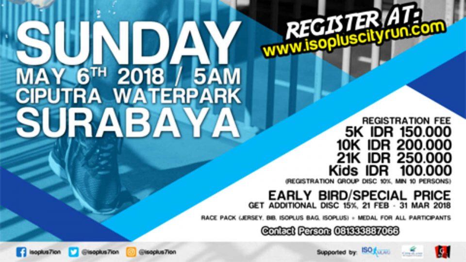 Isoplus City Run Surabaya 2018