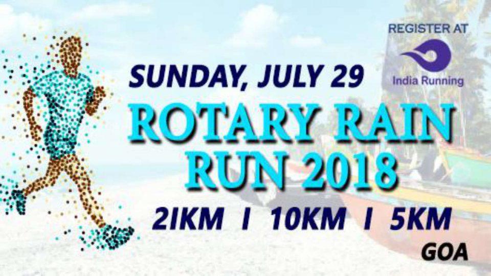 Rotary Rain Run-Goa 2018