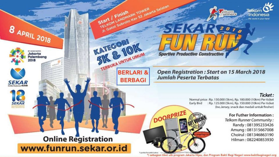 Sekar Telkom Fun Run 2018