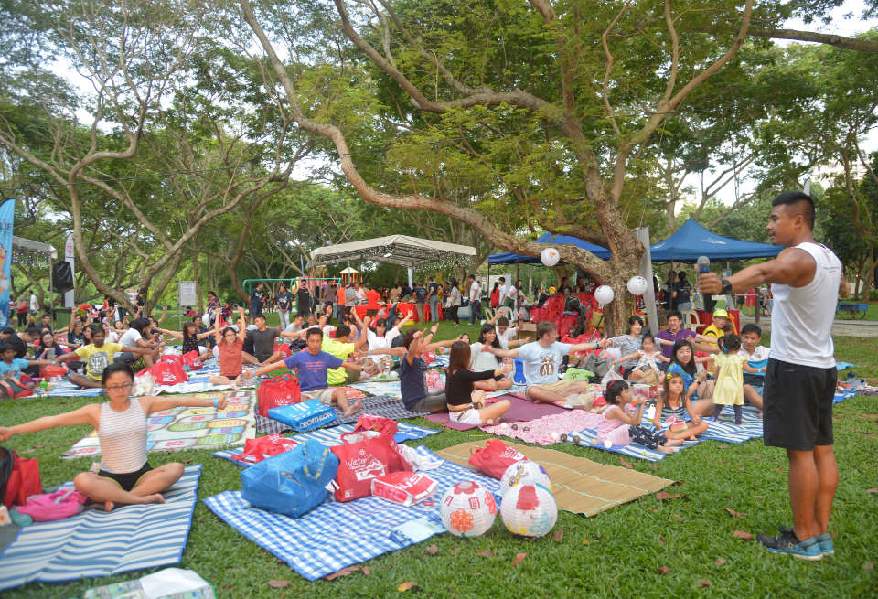 People's Association Water-Venture Organised First First Land-Based Carnival at Bedok Reservoir Park