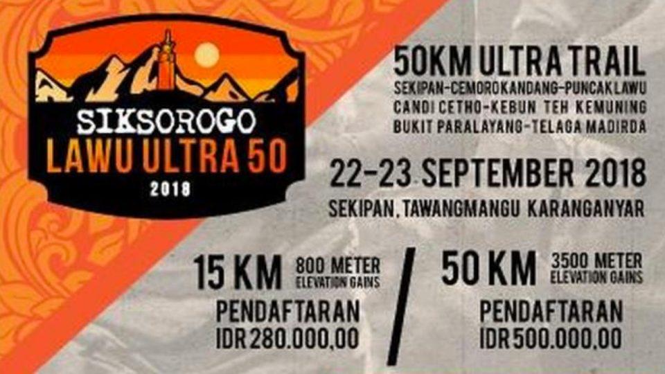 Siksorogo Lawu Ultra 50 2018