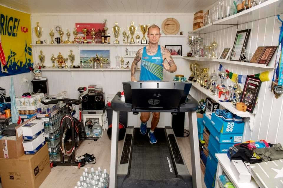 He ran for 24 hours straight on a treadmill and set a new world record.