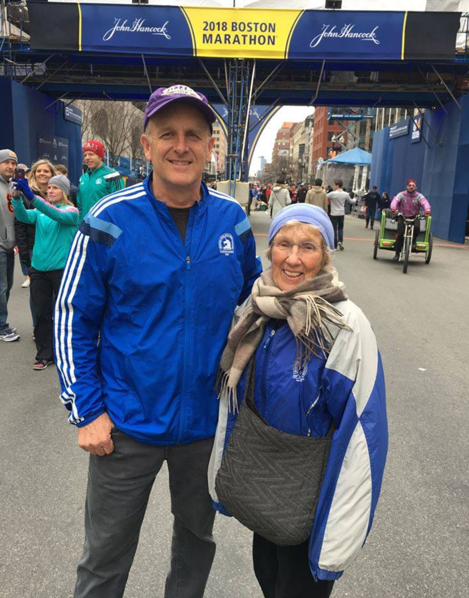 She was 85 years old and among the last runners to finish the Boston Marathon. But she set a new world record.