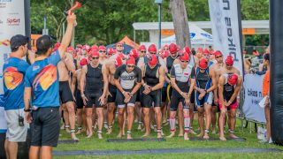 Singapore National Athletes took top spots at Singapore Aquathlon 2018