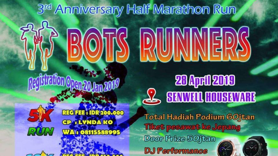 3rd Anniversary Half Marathon BOTS Runners