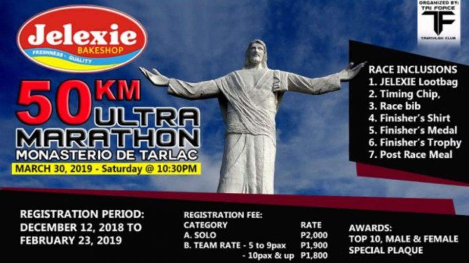 Jelexie 50km Monasterio de Tarlac Ultramarathon