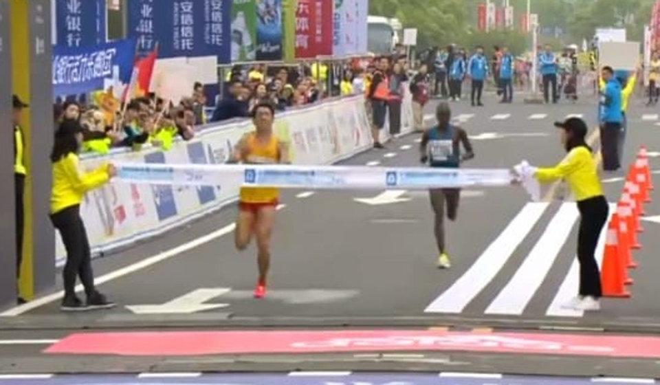 Chinese Runner Won At Shanghai Half Marathon Despite Diarrhoea During The Race